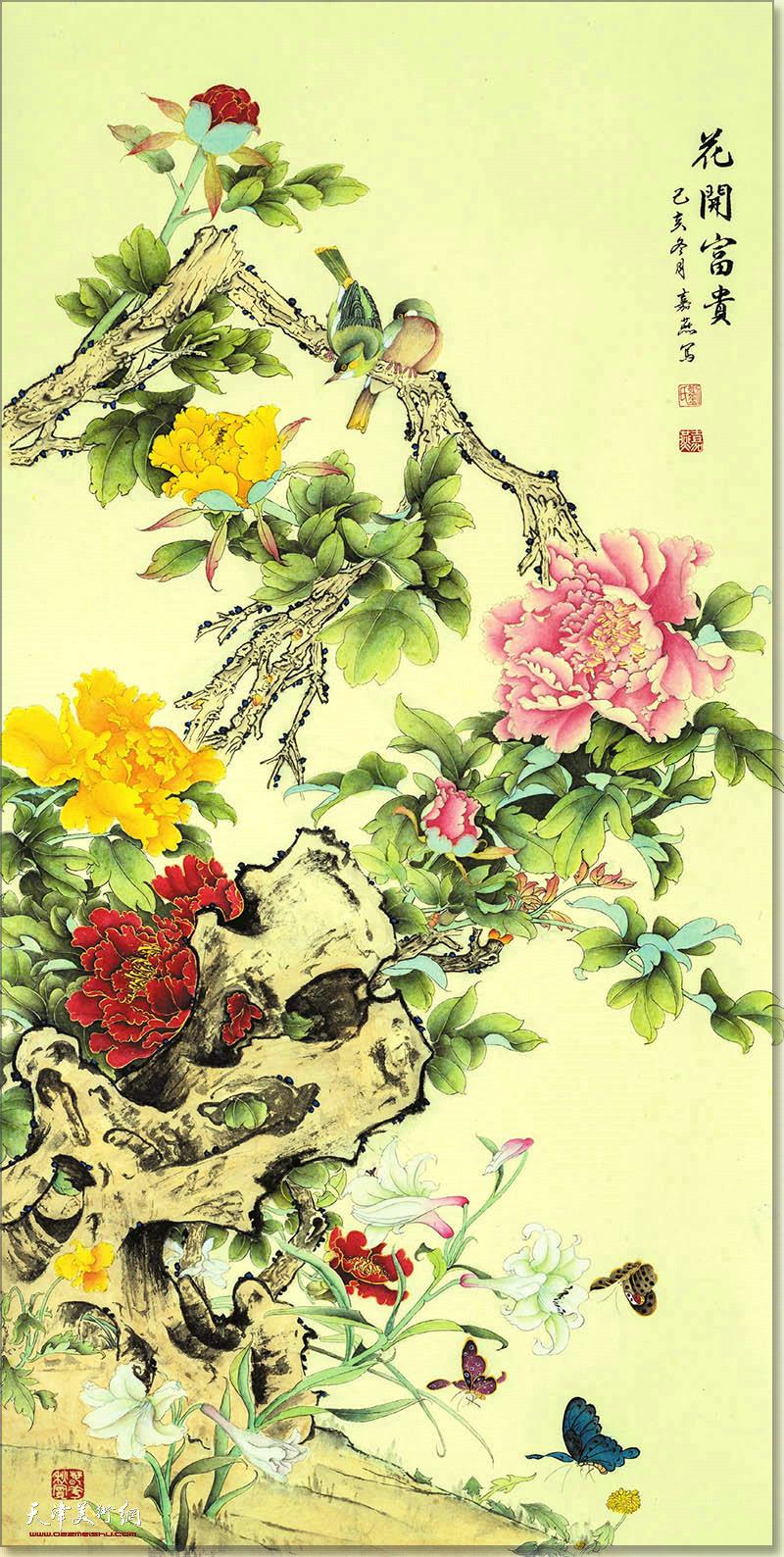刘嘉燕作品:花开富贵