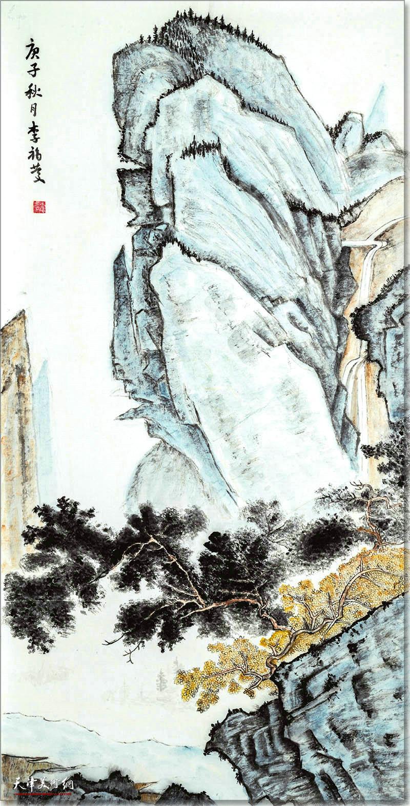 李福庆作品:高山流水