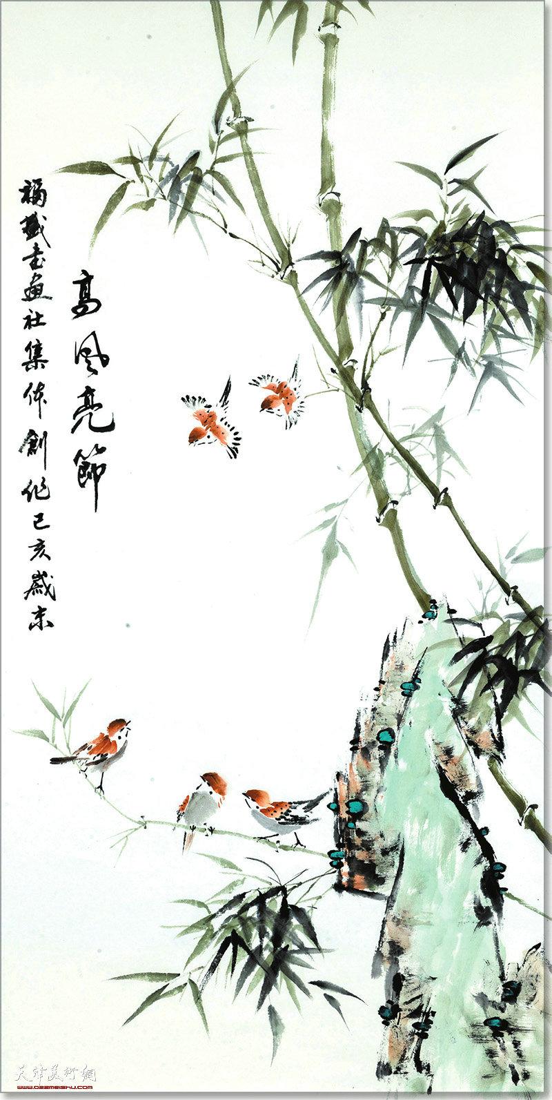 福盛书画社集体创作作品:高风亮节