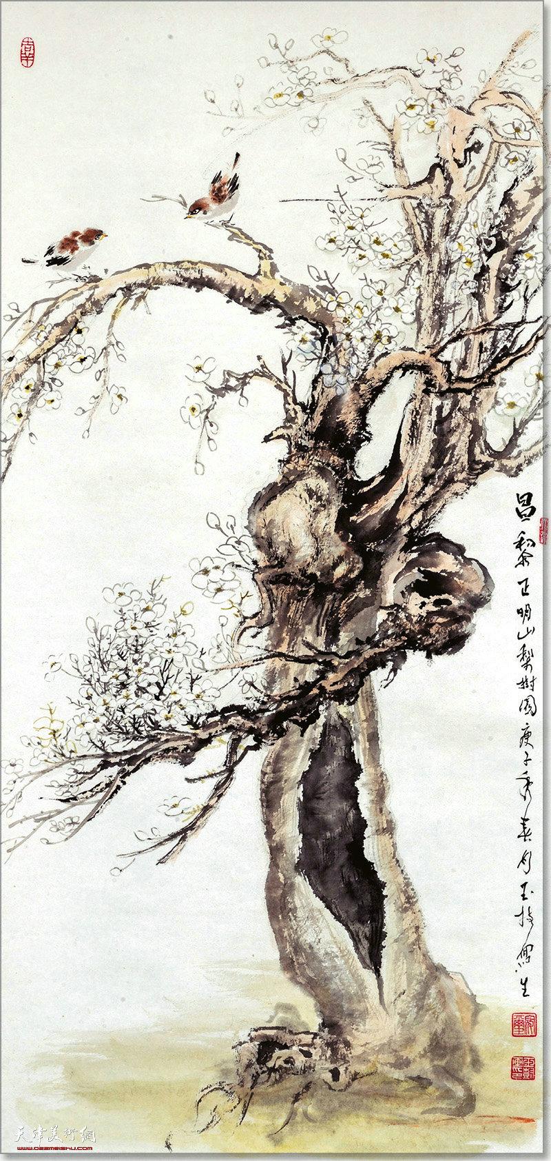寇玉树作品:梨树园
