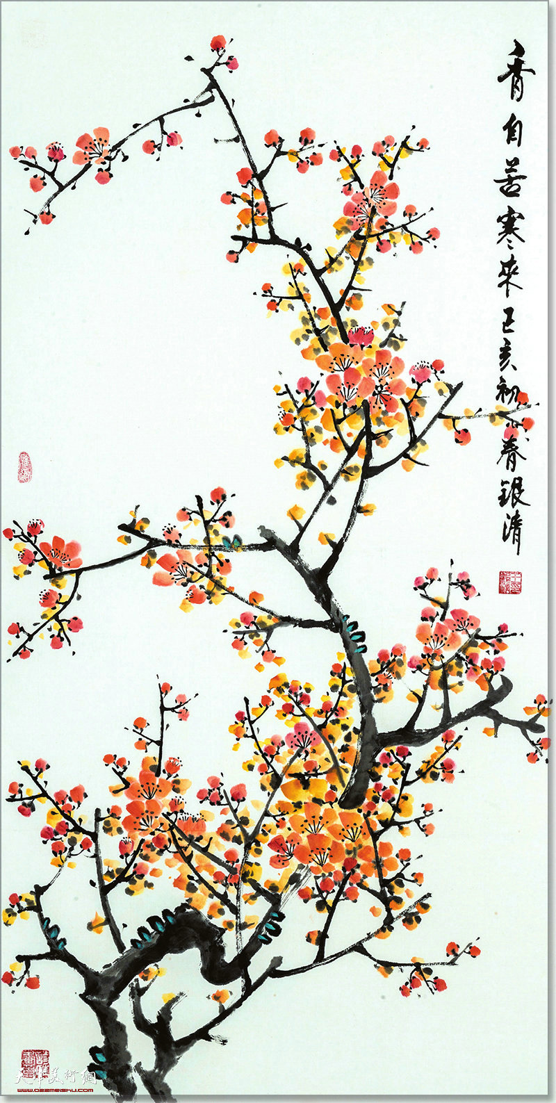 王银清作品:香自苦寒来