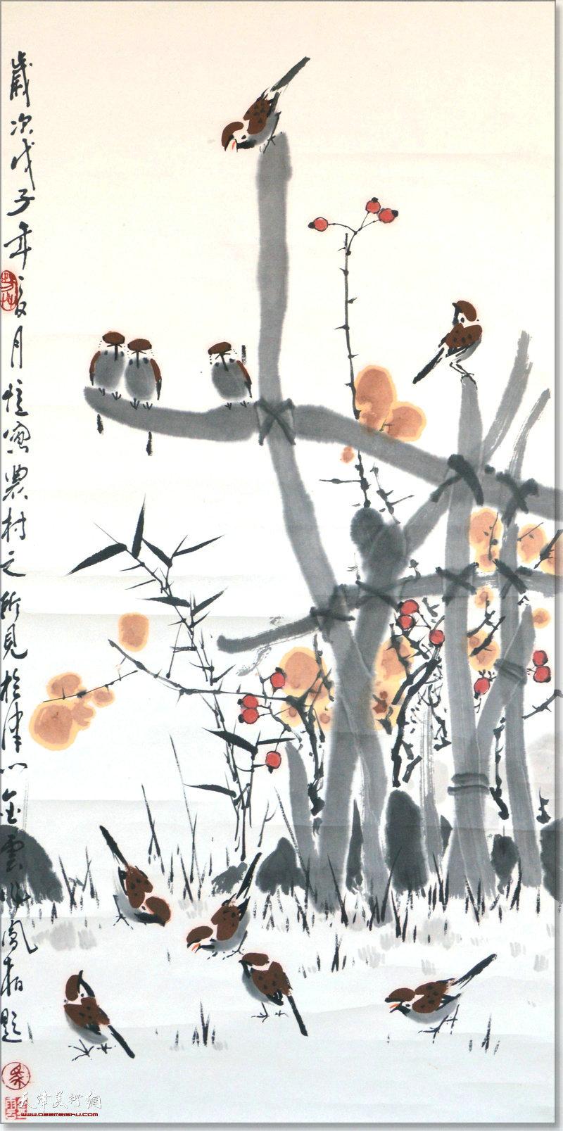 吕金云作品:乡景