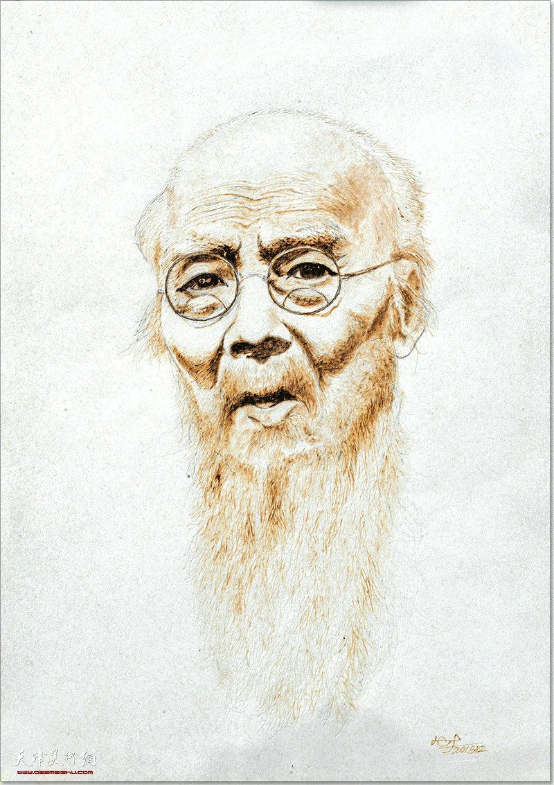 韩湘作品:白石老人