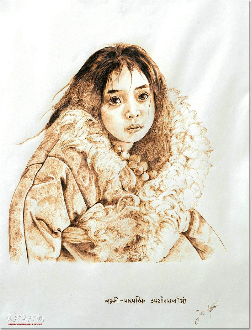 韩湘作品:少女