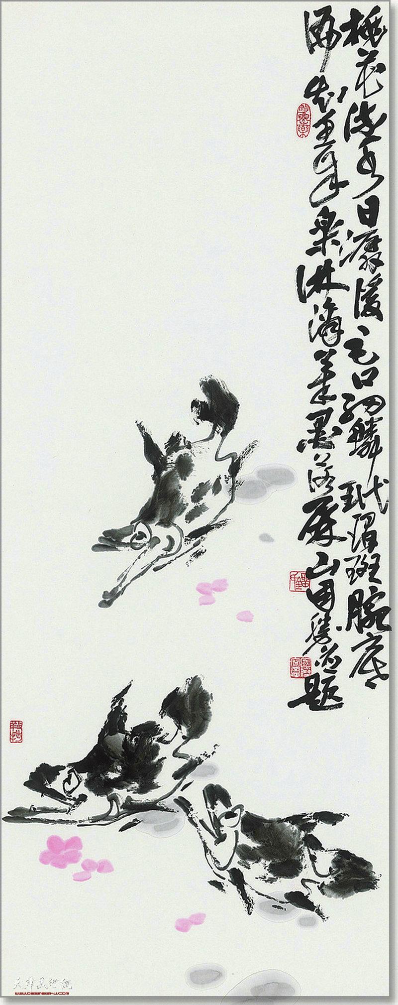 刘国胜作品:桃花流水