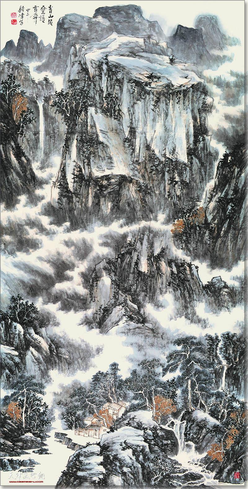 李毅峰作品:青山几叠护云屏