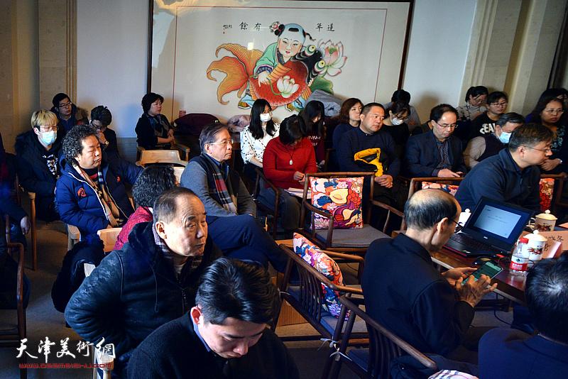 杨柳青画社项目合作洽谈会现场。