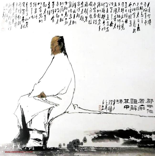 王子武先生作品:悼红轩主曹雪芹