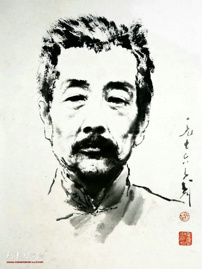 王子武先生作品:鲁迅先生