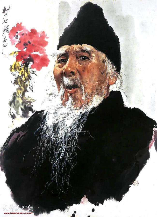 王子武先生作品:白石老人