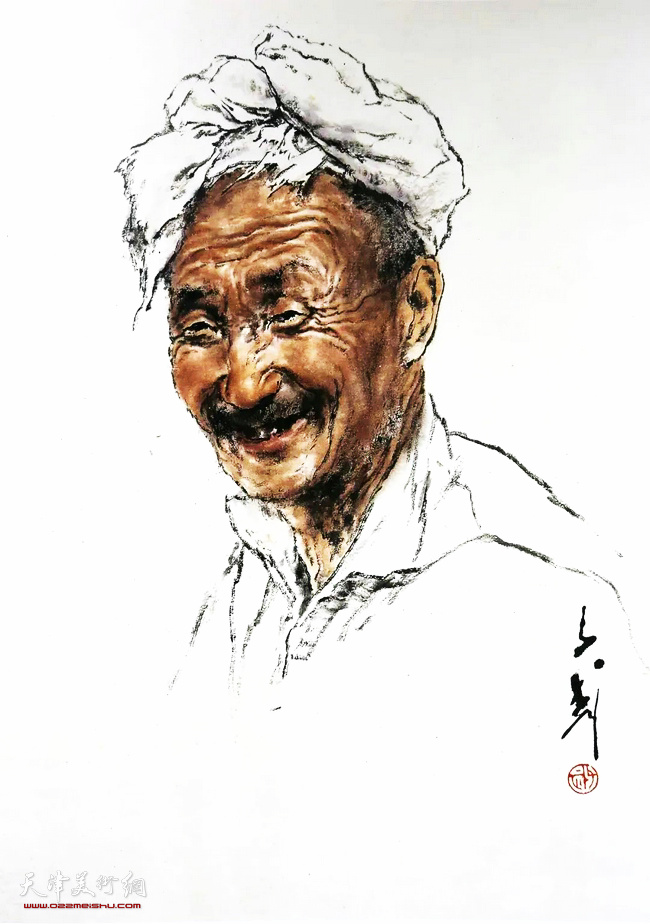 王子武先生作品:关中老汉