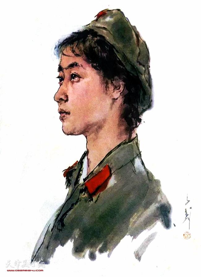 王子武先生作品:女战士