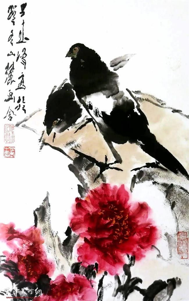 王子武先生作品:双喜图