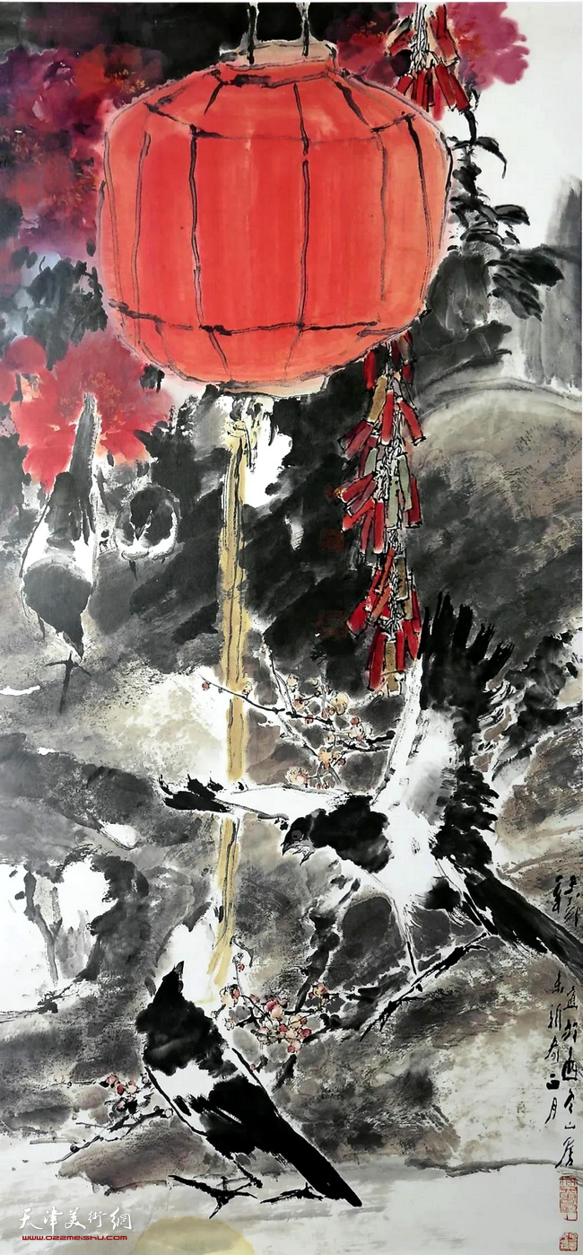 王子武先生作品:佳节长春