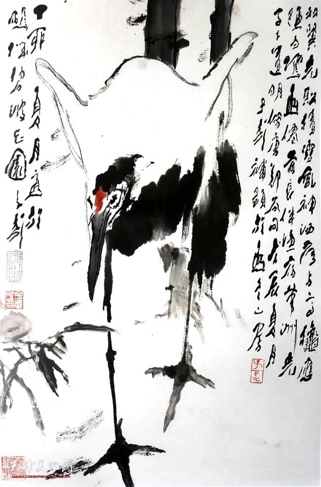 王子武先生作品:风神洒落走高秋