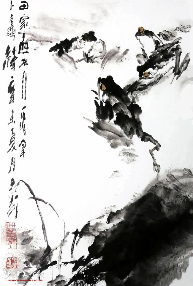 王子武先生作品:蛙声