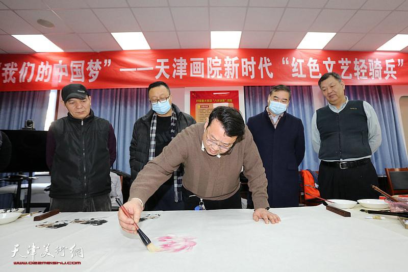 天津画院新时代红色文艺轻骑兵小分队文化进万家活动在精武镇付村举行