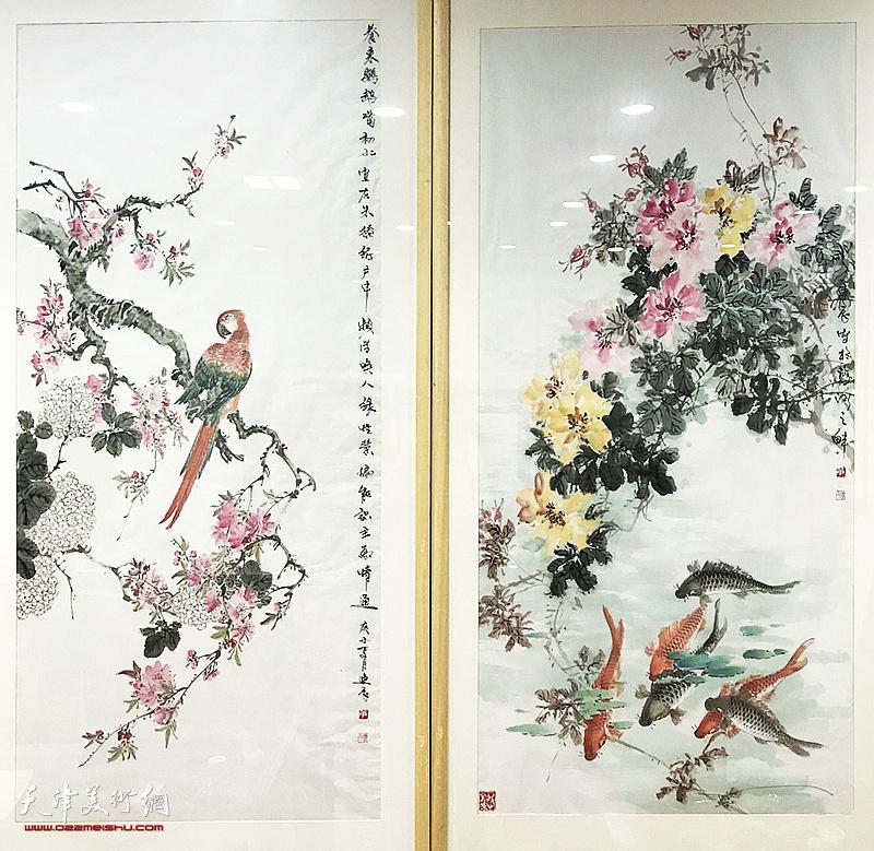 陈军、单连辰花鸟画迎春展