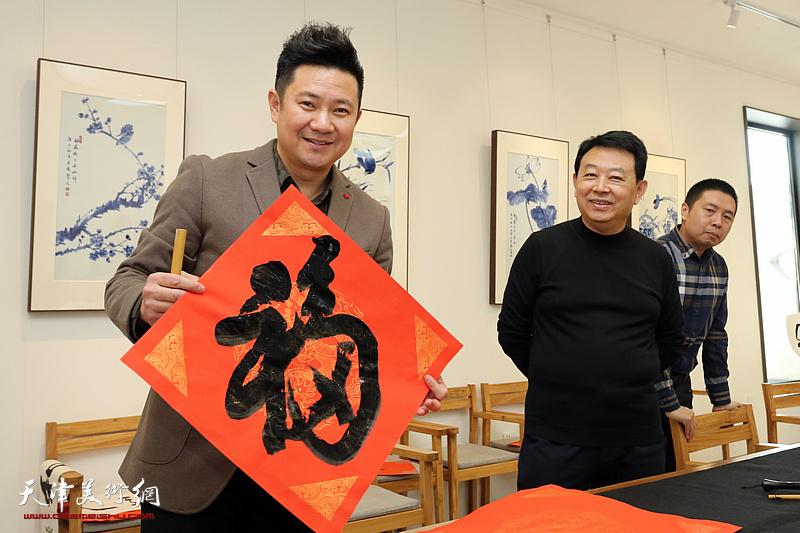 津门书画家相聚观照轩迎新春雅集