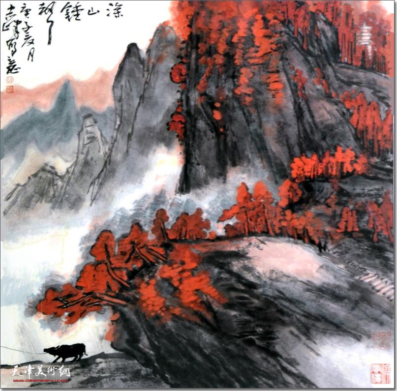 陈志峰作品:《深山钟声》 (水墨画)