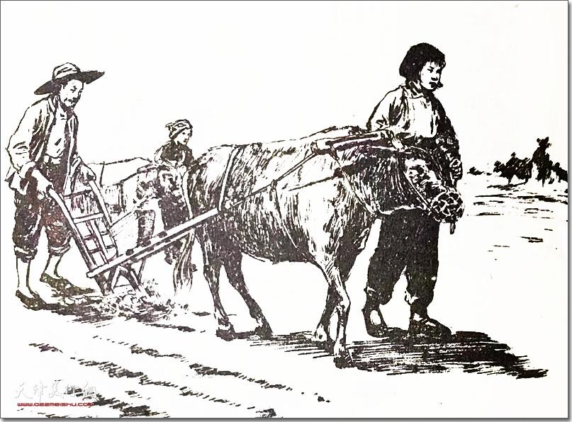 赵兵凯作品:《志愿军的未婚妻》 (白描 连环画选)