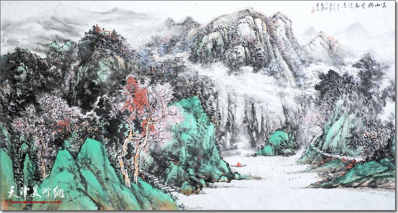 姜金军作品《溪山总有春消息》
