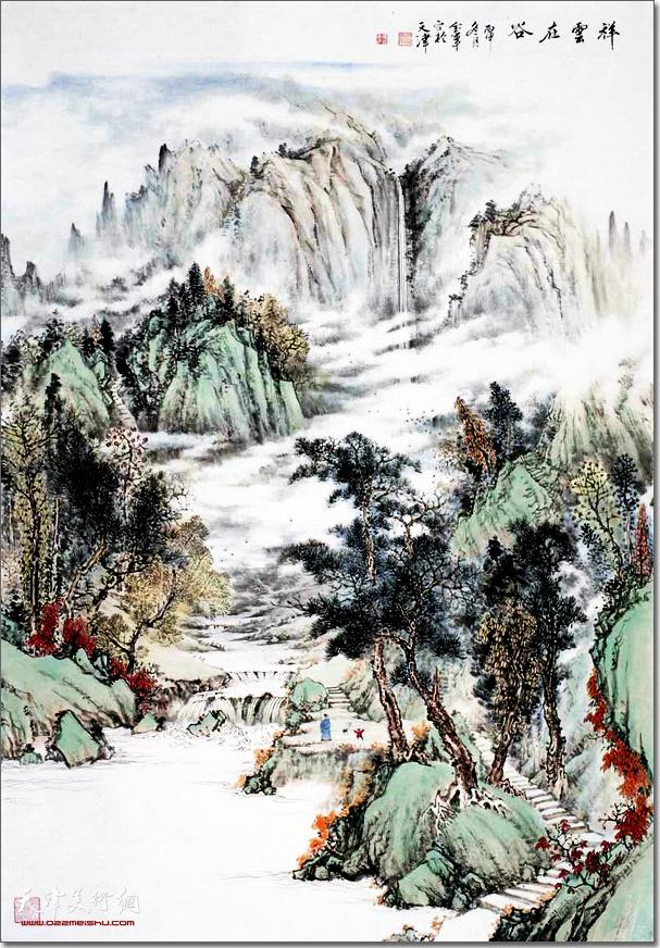 姜金军作品《祥云在谷》
