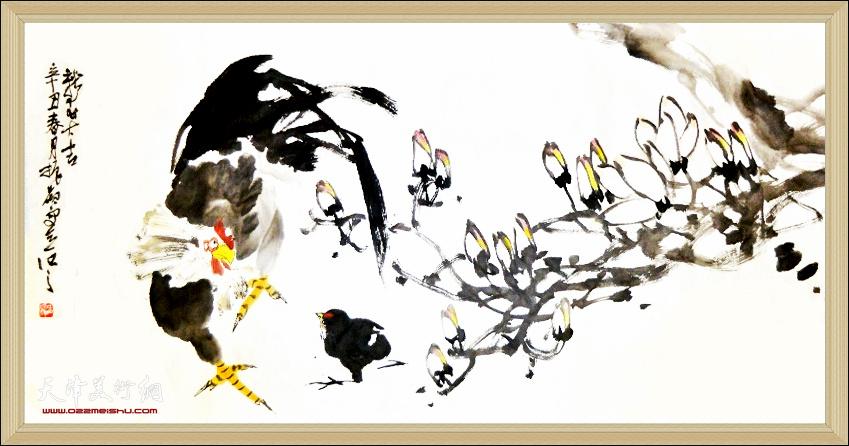 顺印业名家雅集史振岭作品:《新年大吉》