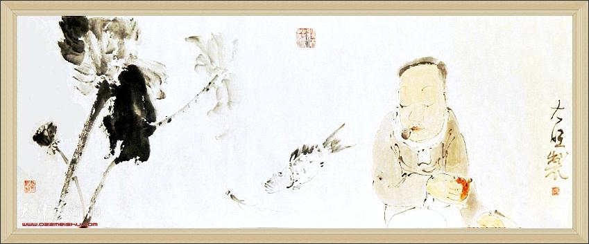 顺印业名家雅集李旺作品:《闲适图》