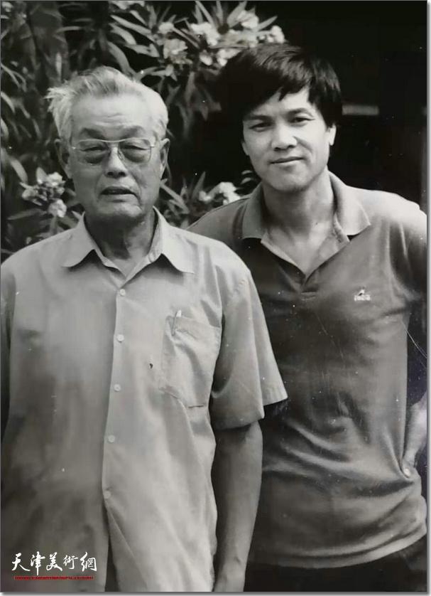 冯大准与恩师慕凌飞先生在上世纪80年代。