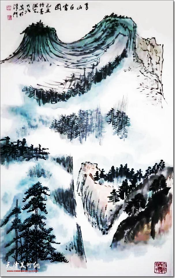 冯大准作品:《青山白云图》