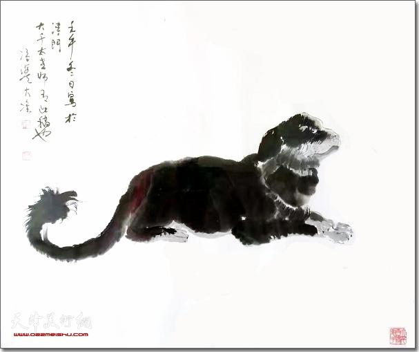 冯大准作品:《灵犬图》