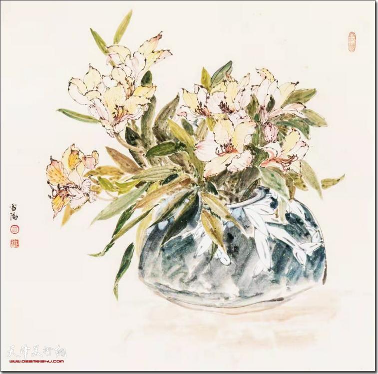 """庄雪阳""""她·艺术""""部分参展作品:粉淡清香"""