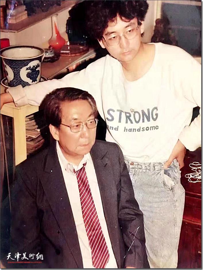杨文与父亲杨霖先生。