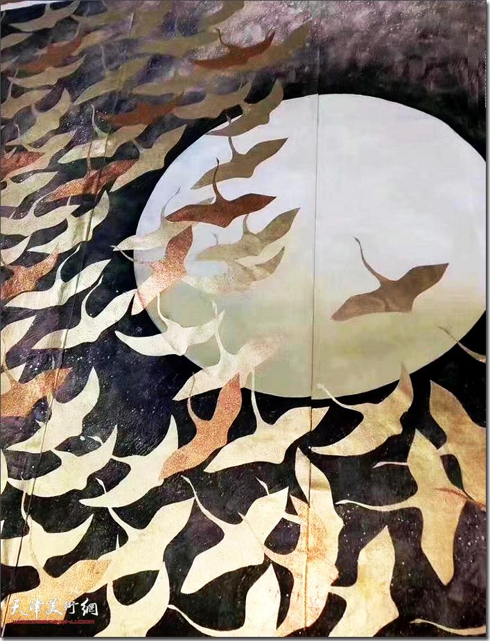 杨文作品:飞翔。