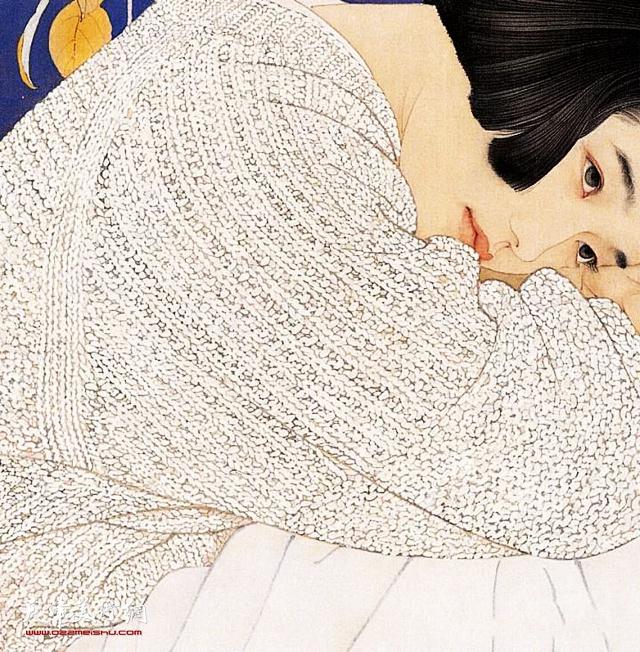 何家英中国画作品:《秋冥》