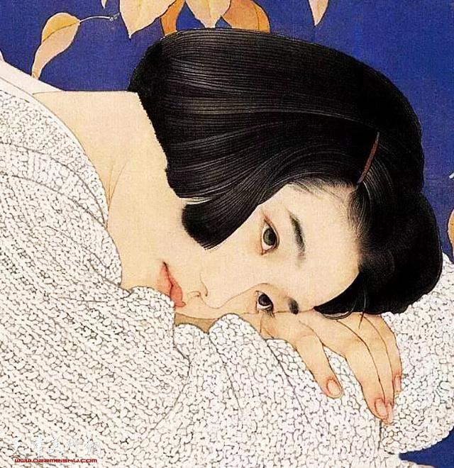 何家英中国画作品:《秋冥》 (局部)