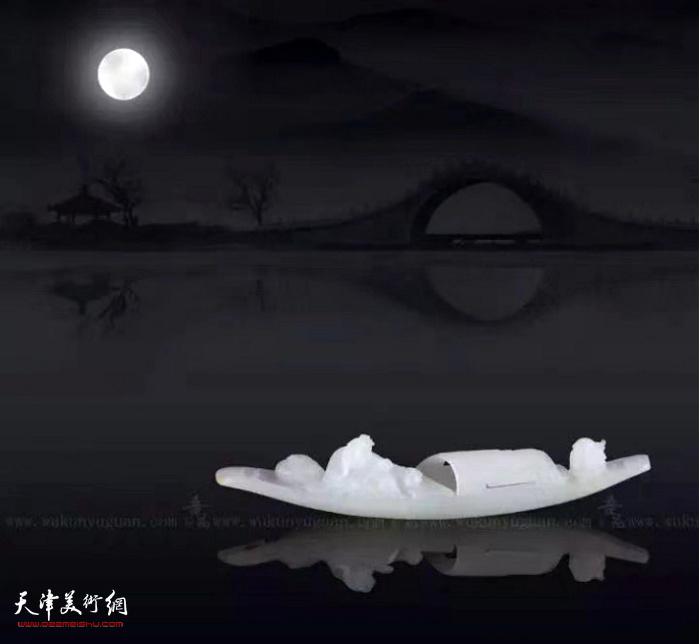 作者:崔磊    作品:《舟中望月》
