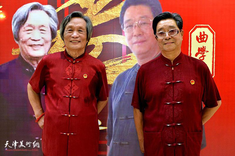 """曲学真、刘乃驹在""""艺术人生 八十华诞""""寿庆文化活动现场。"""