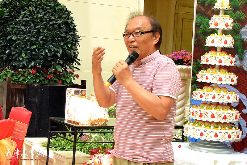 天津美术学院教授何延喆发表贺寿辞。