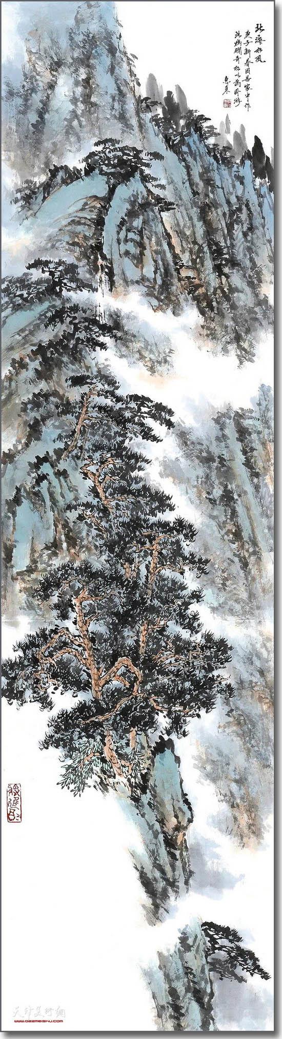 杨惠东作品:北海松风