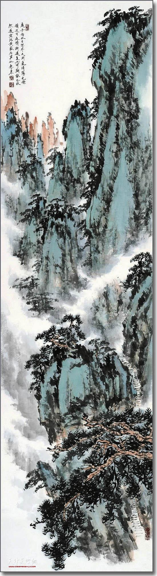 杨惠东作品:黄山石笋峰